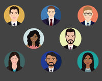 People icons color stock illustration