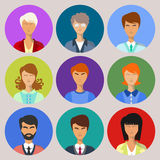 People icons. People icons on colorful template vector illustration