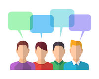 People Icons with Dialog Bubbles Royalty Free Stock Image
