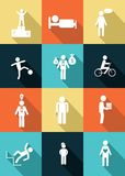 The people icons Royalty Free Stock Photos
