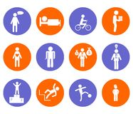 The people icons Stock Photos