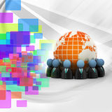People icons forming a circle around the Earth Royalty Free Stock Photography