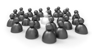 People icons. The leader / Think different concept isolated on w Royalty Free Stock Photography
