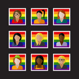 People icons with LGBT community members Royalty Free Stock Photography