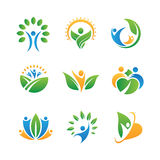 People icons and logos Royalty Free Stock Photography