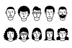 People Icons Royalty Free Stock Photos