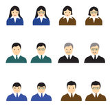 People icons  man and womem vector illustration. People icons  man and womem vector Stock Photography