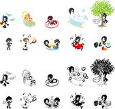 People icons for message Stock Images
