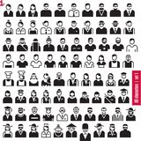 People icons. Occupations. Professions. People icons. 80 characters set 1. Occupations and Professions. Human resources stock illustration