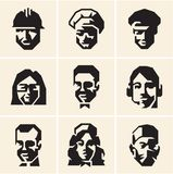 People icons. Occupations. Professions. Royalty Free Stock Images