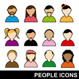 People icons. Over white background vector illustration Vector Illustration