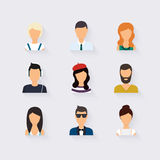 People icons. People Flat icons. Collection vector illustration