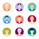 People icons. People Flat icons collection. Royalty Free Stock Photography