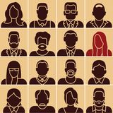 People icons. People silhouettes stock illustration