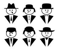 People icons set. Isolated on white background Stock Photos