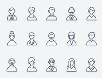 People icons. Set of 15 people icons Vector Illustration