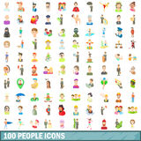 100 people icons set, cartoon style. 100 people icons set in cartoon style for any design vector illustration vector illustration