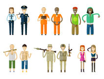 People icons set Royalty Free Stock Photography