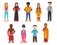 People Icons Set Royalty Free Stock Photo