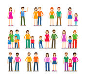 People icons set. Family, love, children symbols. Vector illustration Royalty Free Stock Photo