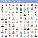 100 people icons set, flat style. 100 people icons set in flat style for any design illustration royalty free illustration