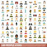 100 people icons set, flat style. 100 people icons set in flat style for any design vector illustration Vector Illustration
