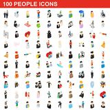 100 people icons set, isometric 3d style. 100 people icons set in isometric 3d style for any design illustration stock illustration