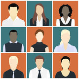 People icons set Stock Photos