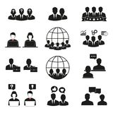 People icons set. Office men and women. royalty free illustration
