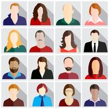 People icons set royalty free illustration