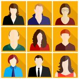 People icons set stock illustration