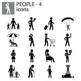 People icons set professions, actions, gestures Royalty Free Stock Images