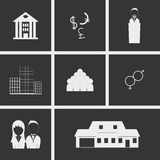 People Icons. Set of icons on a theme Stock Photography