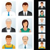 People Icons Set. Various Business Peoples. People Icons. Avatars of Various Business Peoples. Vector Clip Art Stock Illustration