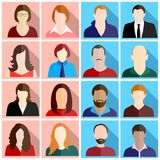 A people icons set royalty free illustration