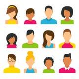 People Icons Set. Women, Men and Kids, Flat Style Modern Design. Vector Illustration royalty free illustration