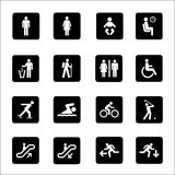 People Icons and sign Vector Royalty Free Stock Photography