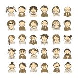 People icons sketch for your design Royalty Free Stock Photography