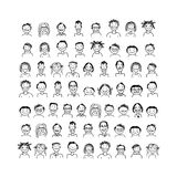 People icons, sketch for your design Royalty Free Stock Photography