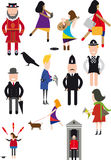 People icons. Small iconic people london Royalty Free Stock Images