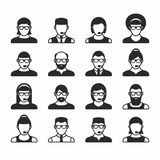 People icons. User Icons and People Icons with White Background vector illustration