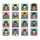 People icons. User Icons and People Icons with White Background royalty free illustration