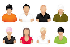 People Icons. Vector Royalty Free Stock Photos