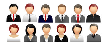 People icons for web. People in office icons for web stock illustration