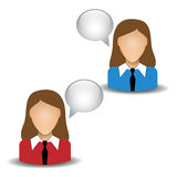 People icons. On a white background royalty free illustration