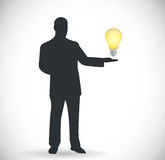 People and idea light bulb illustration design Stock Photography