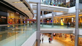 People at ifc shopping mall, hong kong stock video footage