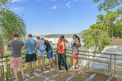 People at Iguazu Park Stock Images