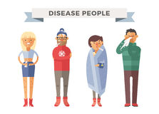 People ill vector illustration Royalty Free Stock Photography