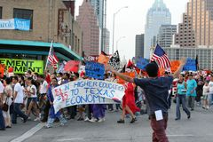 Dream Act Immigration Rally in Austin Texas 2009 royalty free stock image